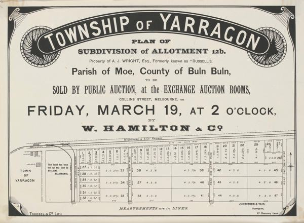 Historic Yarragon Subdivision and Auction Plan